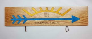 Arrow Display Plaque Style #2 BG