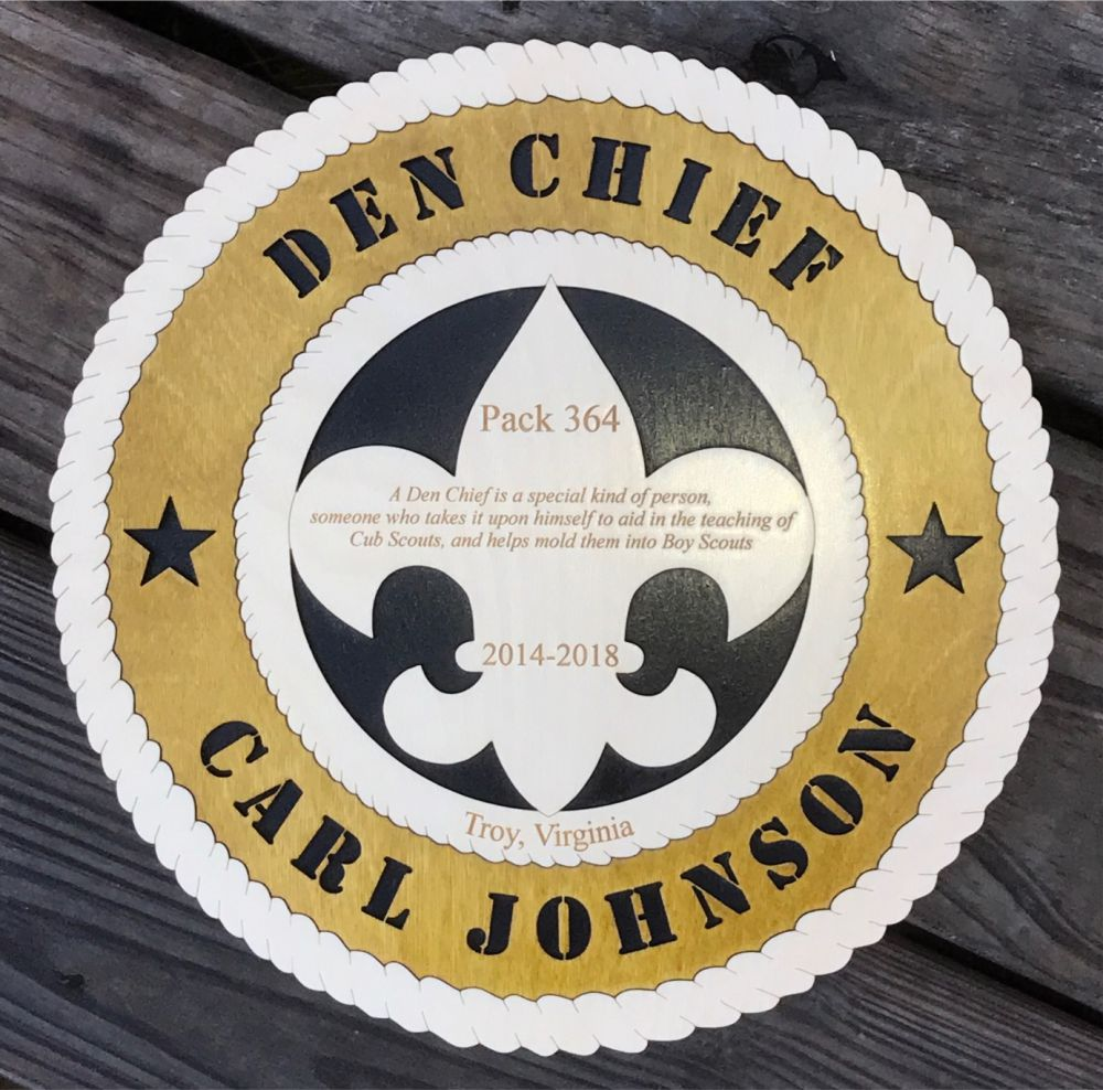 Den Chief Leader Plaque