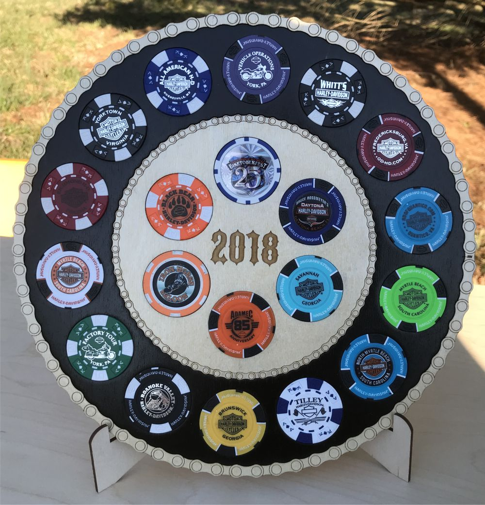 2018 Poker Chip Display 20 Chips