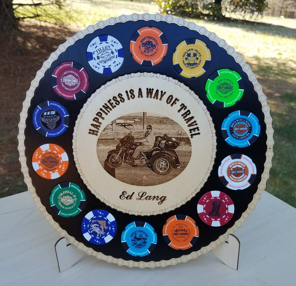 Large Photo Poker Chip Display