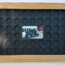 4x6 Photo 11x17 Poker Chip Display 48 Chips Main Black on Black WITH PHOTO