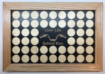 Livin Life Behind Bars Poker Chip Display from Mountain View Wood Works