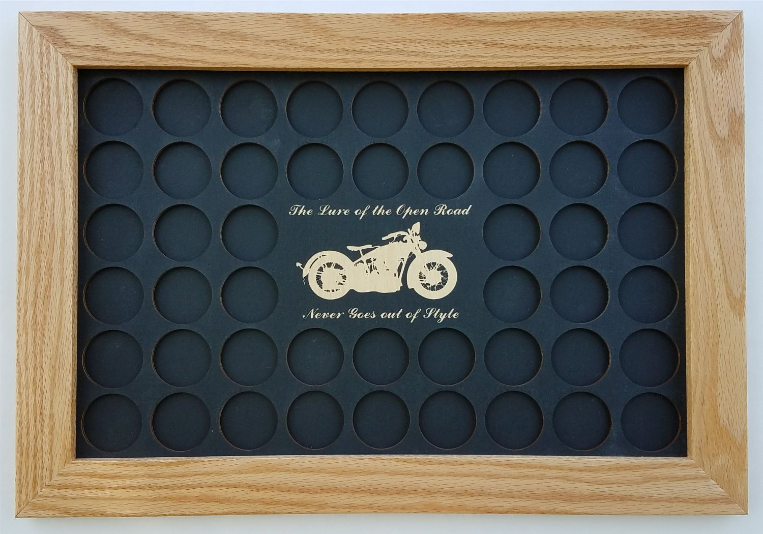 Black Lure Of The Open Road 11x17 Poker Chip Mat Frame