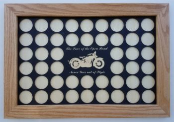 The Lure of the Open Road 11x17 Poker Chip Display 48 Chips Main Black on White