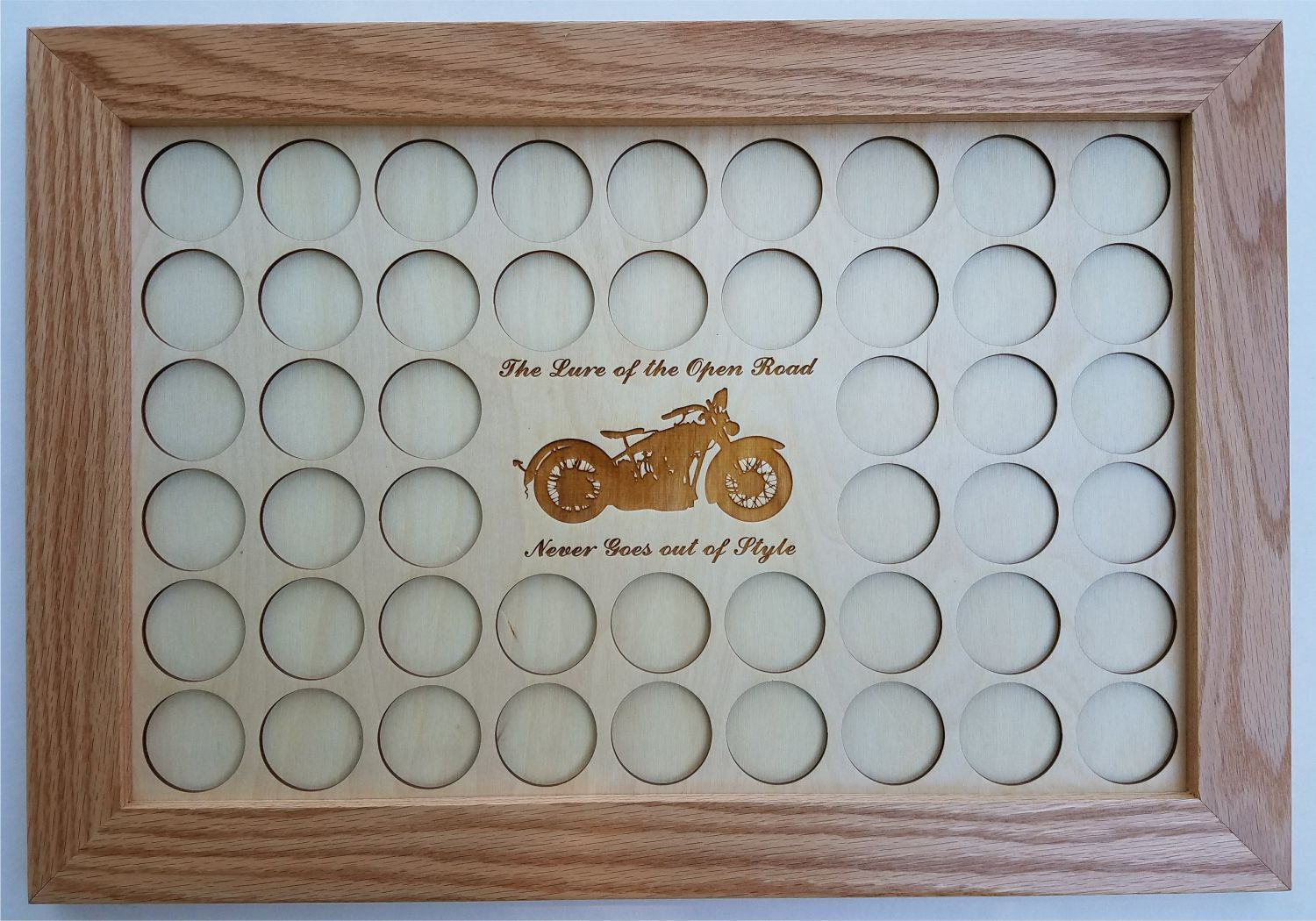 Natural Color Lure Of The Open Road 11x17 Poker Chip Mat Frame
