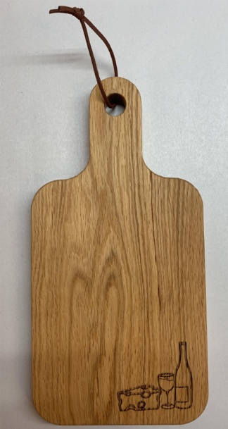Wine Bottle and Cheese Cutting Board