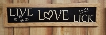 Live Love Lick House Sign Framed Wall