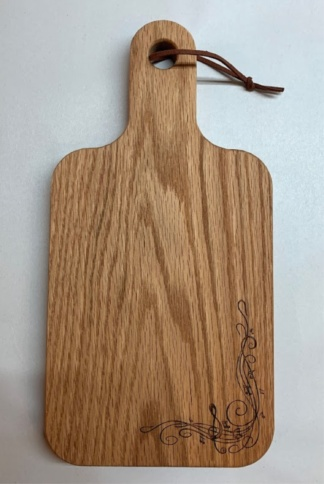 Music Engraved Cutting Board