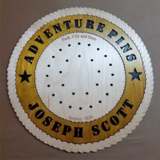 Adventure Pin Plaque with 29 Holes